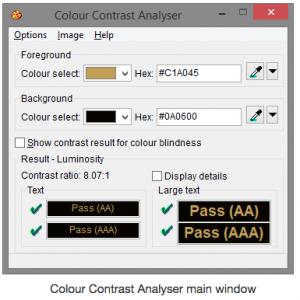Imagen del programa de contraste y su funcionamiento