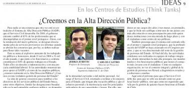 La Segunda, columna ADP Carlos Castro y Jerko Juretic