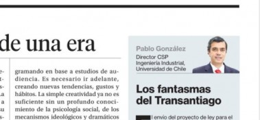 columna Pablo Gonzalez - Transantiago