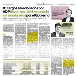 29 PULSO 10 cargos seleccionados por ADP llevan mas de 4 meses sin ser nombrados por el Gobierno