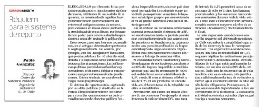 columna Pablo Gonzalez - La Tercera