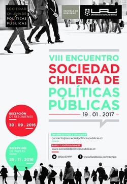 afiche 8vo Encuentro Sociedad Chilena Politicas Publicas